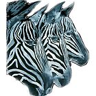 ZEBRAS   I PAD/TEES/PHONE/STICKERS/ART by Shoshonan
