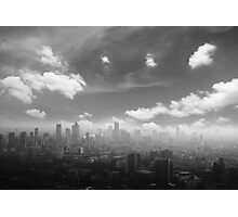 City in the  pollutions fog  Photographic Print