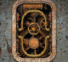 Infernal Steampunk Machine #1 iPad case by Steve Crompton