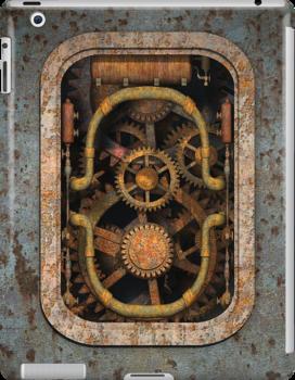 Infernal Steampunk Machine #1 iPad case by Steve Crompton