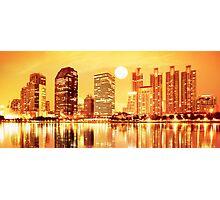 sunset panorama scenes of city Photographic Print