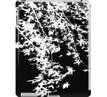 white on black iPad Case/Skin