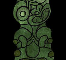 Maori Tiki iPhone Case by kevin smith  skystudiohawaii