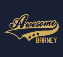 AWESOME BARNEY (yellow type) by freakysteve