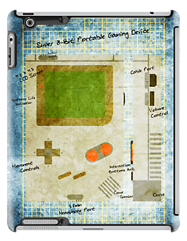 Blueprint  Gameboy Textured - (iPad) by Adam Angold