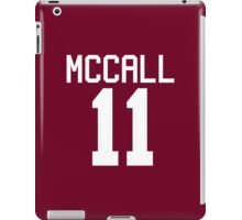 Scott McCall's Jersey - white text iPad Case/Skin