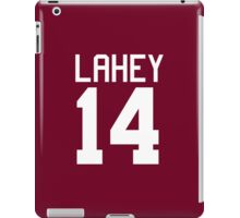 Isaac Lahey Jersey - white text iPad Case/Skin