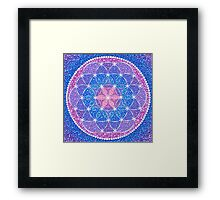 Starry Flower of Life Framed Print