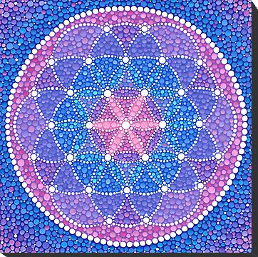 Starry Flower of Life by Elspeth McLean