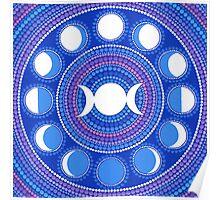 Moon Cycle Mandala Poster