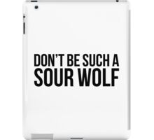 Sour Wolf - black text iPad Case/Skin