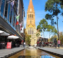 St Paul's Cathedral, Melbourne by Stephen  Shelley