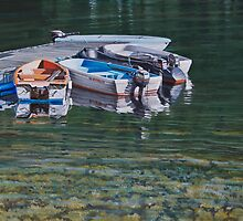 Quiet mooring in Ballestrand, Norway by Freda Surgenor