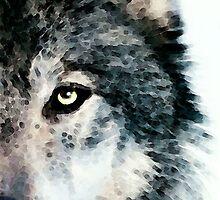 Wolf Art - Timber by Sharon Cummings