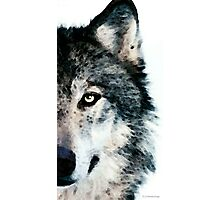 Wolf Art - Timber Photographic Print