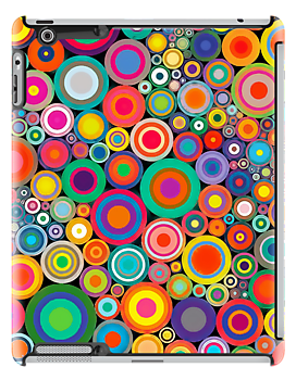Apple Design iPad Psychedelic Circles Case Cover by David Alexander Elder