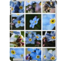 Forget-Me-Nots Montage 1 iPad Case/Skin