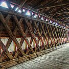 The Beams Inside the Sach's Covered Bridge by Jane Neill-Hancock