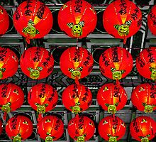 Red Lanterns at Zhinan Temple by TonyCrehan