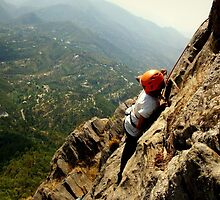 Rockclimbing in the Himalayas by PurpleAardvark