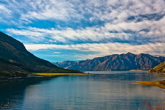 Lake Hawea South Island New Zealand  by fotosic