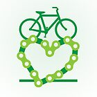 Green Love Chain Bicycle by PaulHamon