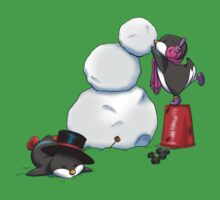 2 penguins, 1 snowman Kids Clothes