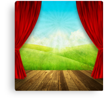 theater stage Canvas Print
