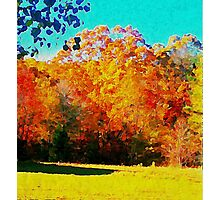 Autumn Watercolor Photographic Print
