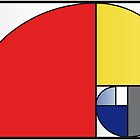 Mondrian vs Fibonacci by Psocy