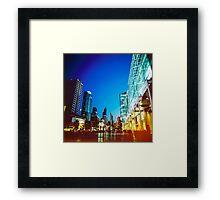 Bangkok city in twilight Framed Print
