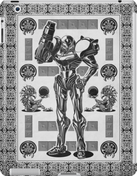 Metroid Samus Aran Geek Line Artly by barrettbiggers