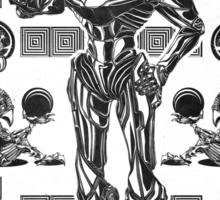 Metroid Samus Aran Geek Line Artly Sticker
