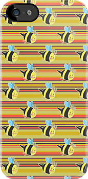 Striped Bumblebee Pattern by SaradaBoru