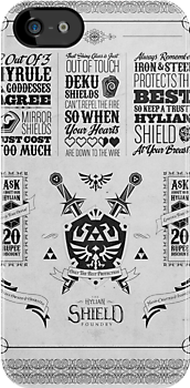 Legend of Zelda Hylian Shield Geek Line Artly by barrettbiggers