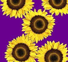 Ipad case - Sunflowers Purple Haze by Mark Podger