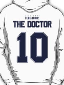 Team Tennant (The Doctor Team Jersey #10) BLUE T-Shirt