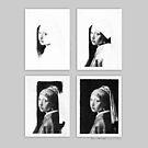 iPad Case - Vermeer Pencil Study 4 x 4 Grey by Jan Szymczuk