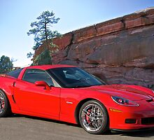 Corvette at Red Rocks by DaveKoontz