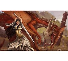 Maiden vs. Dragon by Brent Woodside