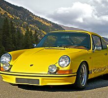 Vintage Yellow Porsche by DaveKoontz