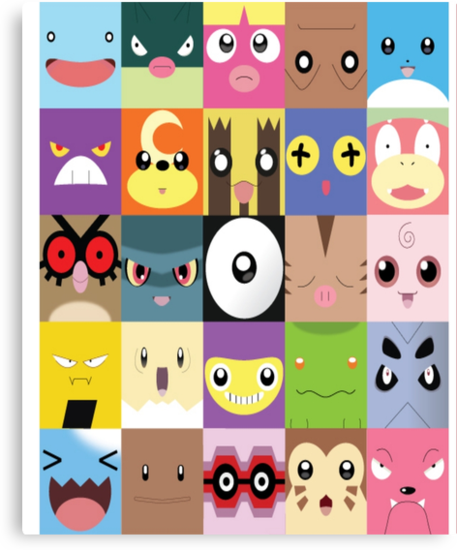 Pokemon Faces- Gotta name them all! by ThatGingerSheep