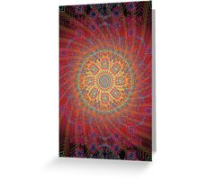 Psychedelic Spiral Design Greeting Card