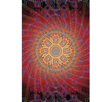 Psychedelic Spiral Design Photographic Print