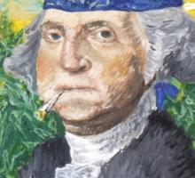 "Marijuana ""founding farmer"" George Washington Legalize Freedom t shirt  Sticker"