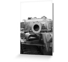Staring down the barrel Greeting Card