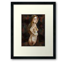 Freckles Girl Framed Print