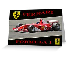 Ferrari Formula 1 Competition  Greeting Card