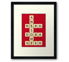Awesome Scrabble Framed Print