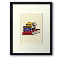 Fiction Is Awesome Framed Print